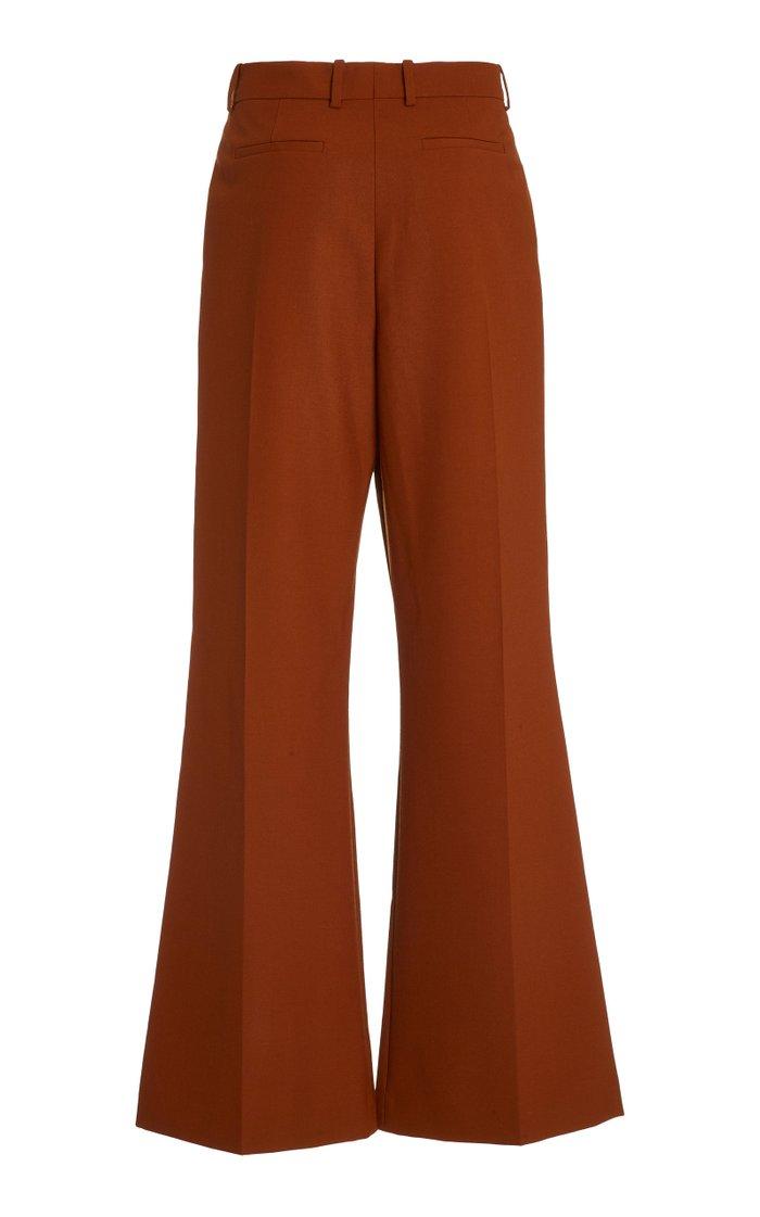 Tambi Wool-Twill Flared Pants