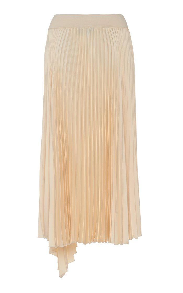 Sabin Asymmetric Plissé Skirt