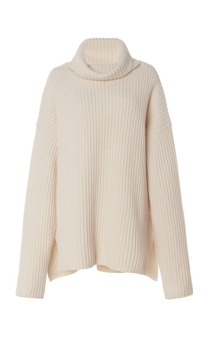 High Neck Ribbed Merino Wool Sweater By Joseph Moda Operandi