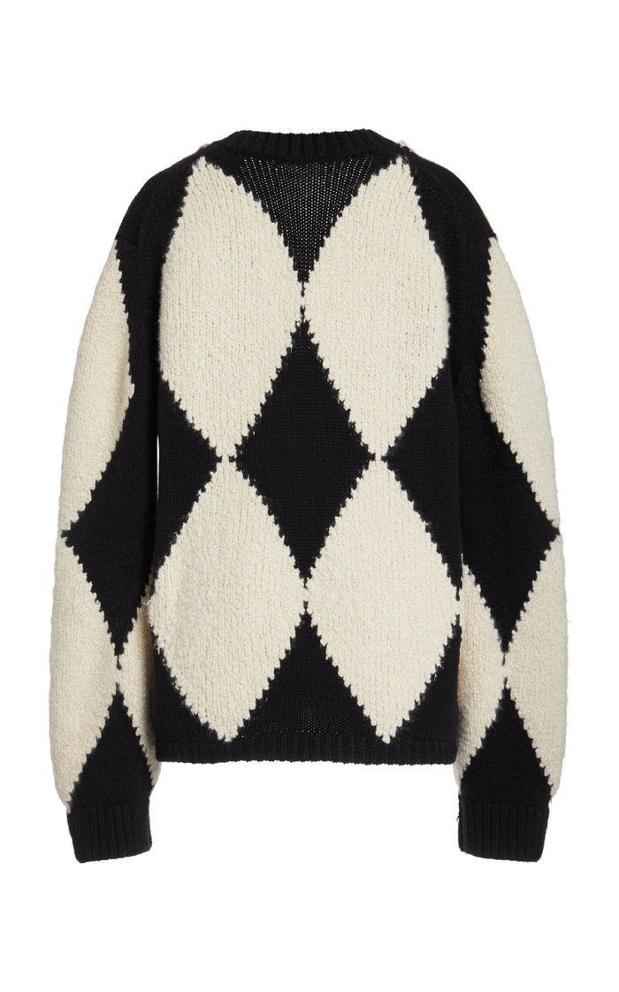 Valerie Jacquard Cashmere-Wool Sweater