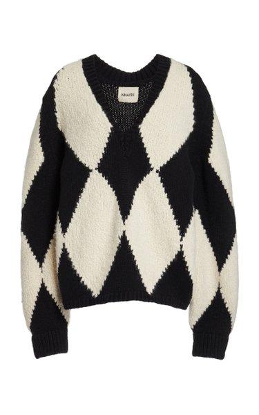Valerie Jacquard Cashmere-Wool Sweater