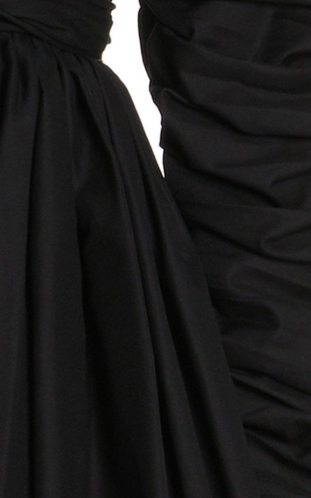Suanne Ruched Cotton Mini Dress