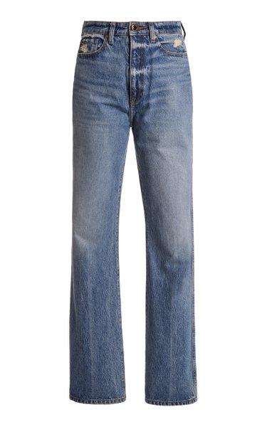 Danielle Rigid High-Rise Slim-Leg Jeans