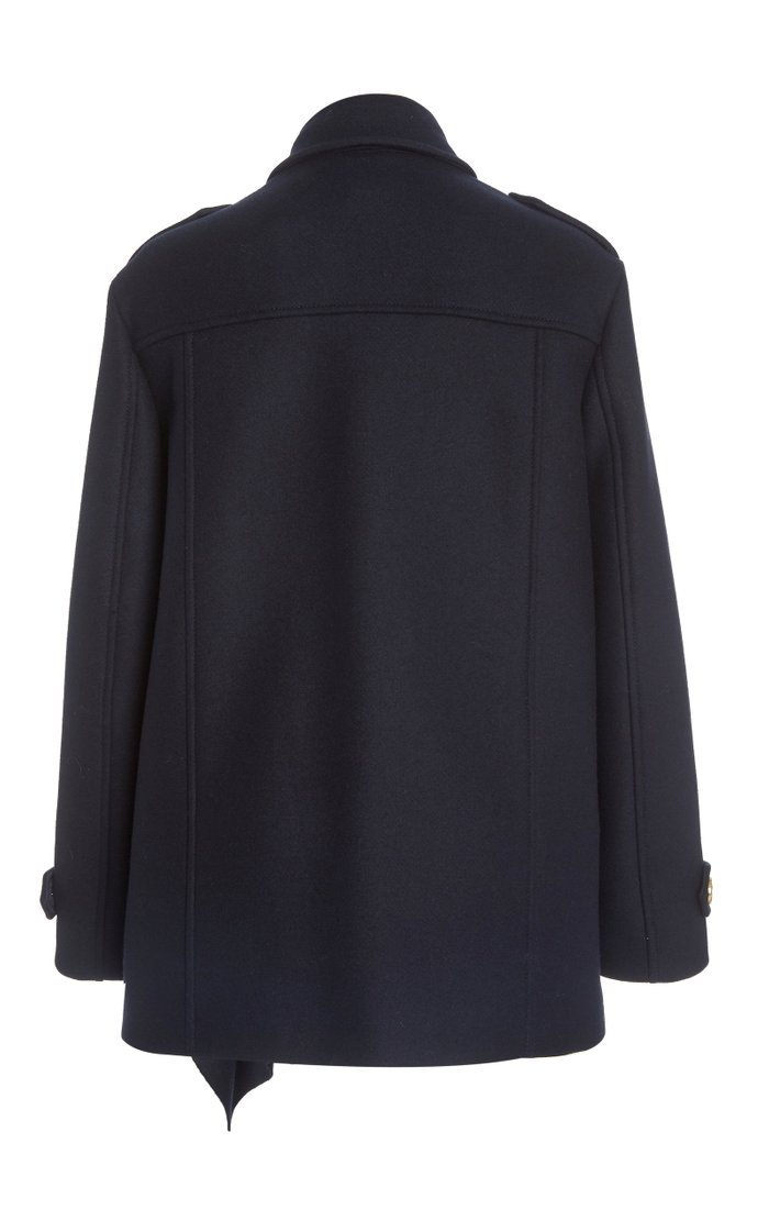 Ruffle Wool Coat