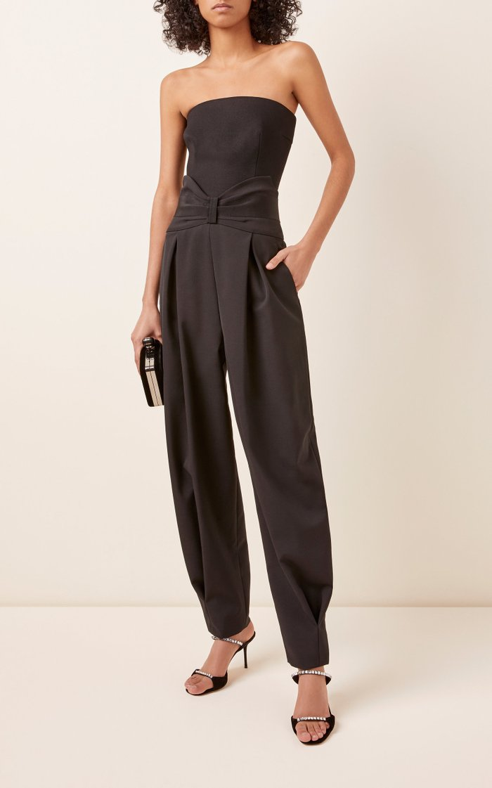 Pleated High-Waisted Wool Pants