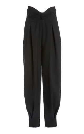 Pleated High-Waisted Wool Pants
