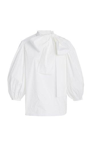 Tie-Detailed Cotton-Poplin Blouse
