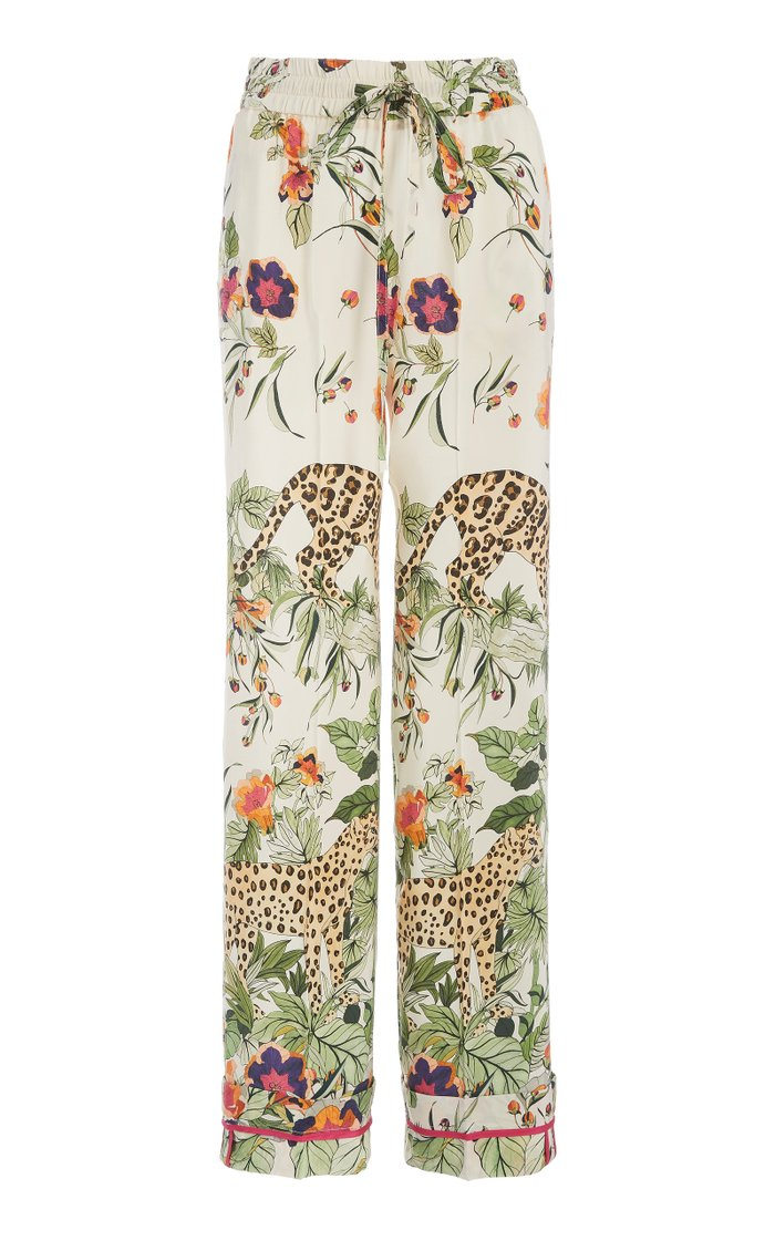 Silk Printed Pajama Pants