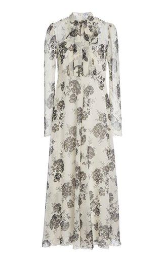 Printed Silk Maxi Dress