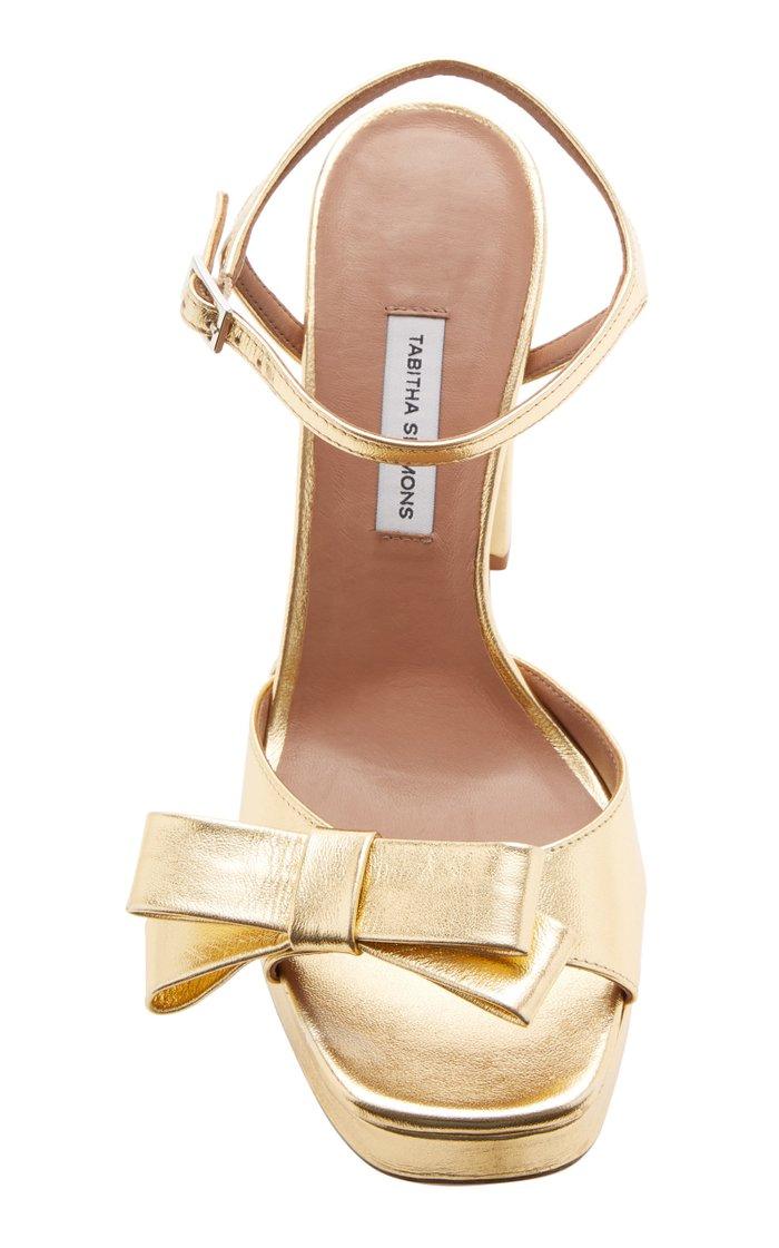 Matilda Embellished Metallic Leather Platform Sandals