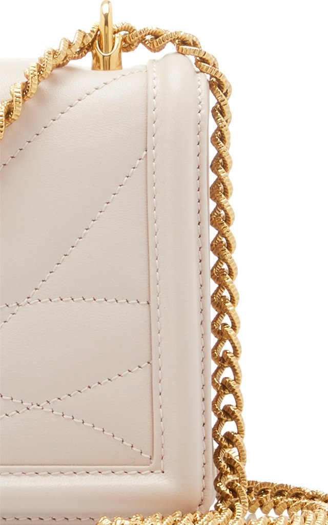 Embellished Quilted Leather Shoulder Bag