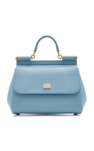 Medium Sicily Leather Top Handle Bag