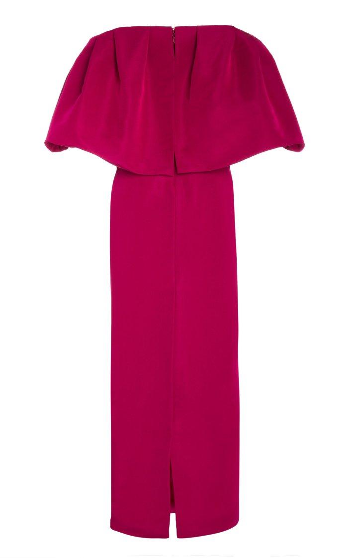 Off-The-Shoulder Silk Taffeta Maxi Dress