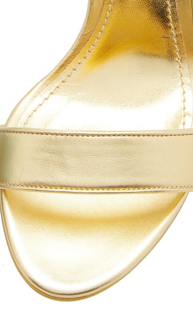 Logo-Embellished Leather Heeled Sandals