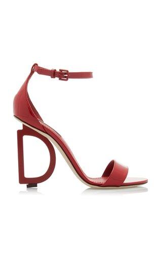 Logo-Embellished Patent Leather Sandals
