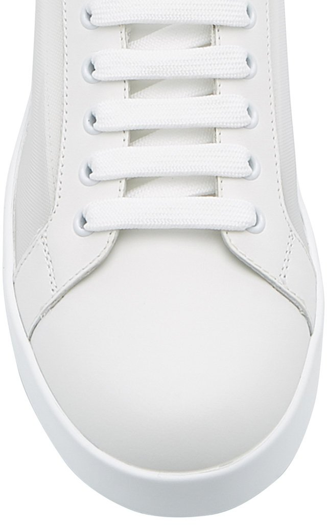 Logo-Detailed Leather Low-Top Sneakers