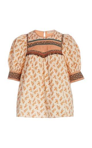 Adalie Cotton Multi Puff Sleeve Top