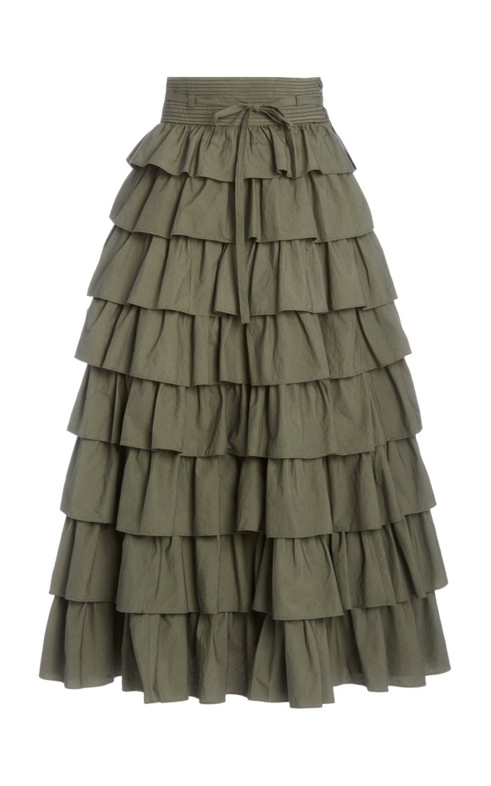 Margot Ruffled Tiered Maxi Skirt