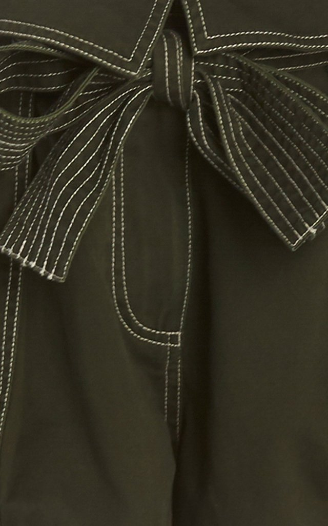 Elliott Tie-Detailed Cotton-Gabardine Shorts