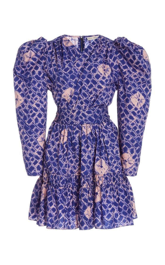 Sabine Printed Cotton Mini Dress