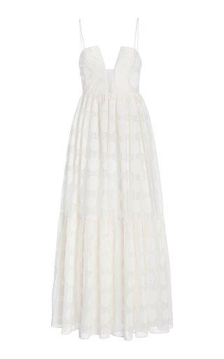 Aimie Polka-Dot Cotton-Silk Dress
