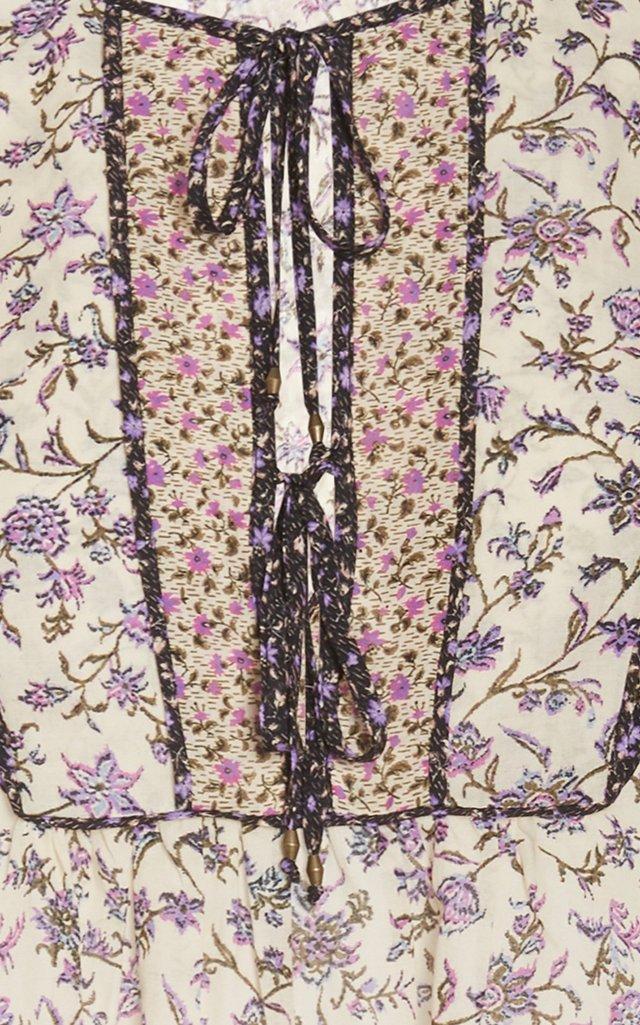 Cora Ruffled Cotton-Blend Top