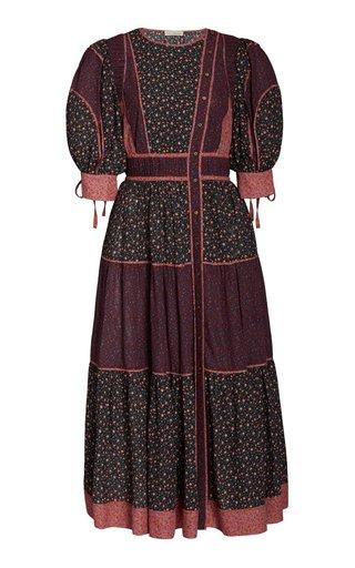 Verona Floral-Print Cotton-Blend Dress