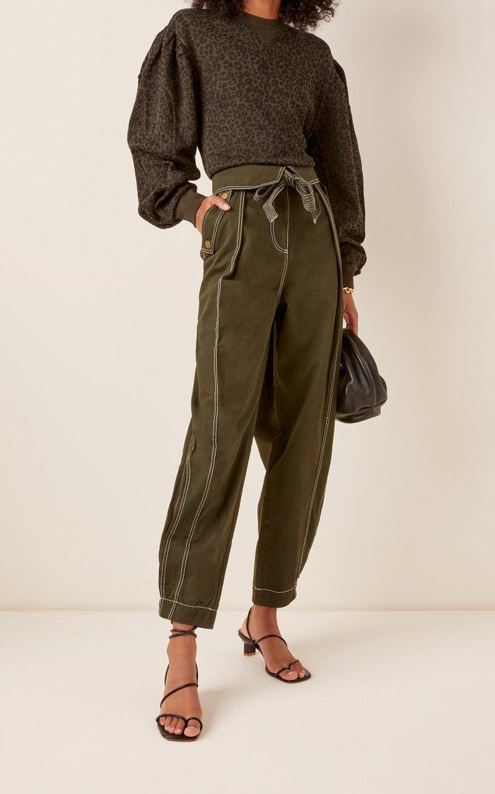Rowen High-Rise Cotton Pants