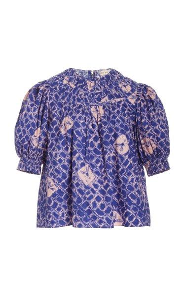 Carmela Printed Cotton Top