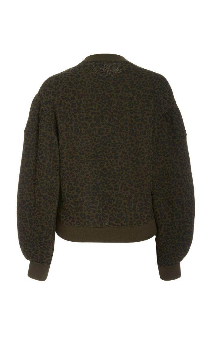 Lula Balloon-Sleeve Cotton Sweater