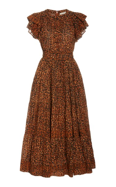 Iona Ruffled Cotton Dress