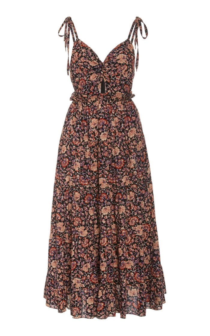 Kali Floral-Print Cotton-Blend Dress
