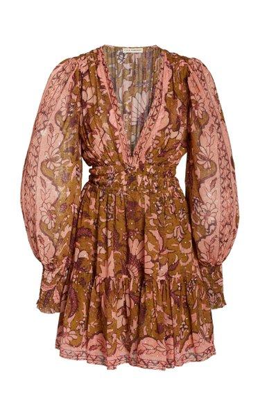 Rosetta Printed Silk-Blend Dress