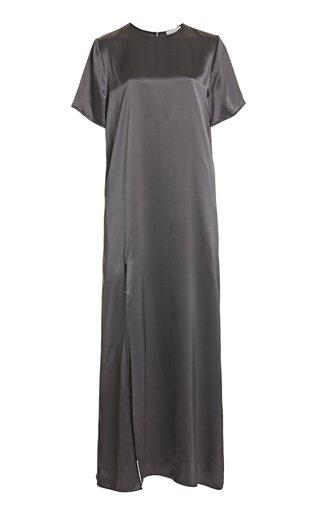 Liam Slit Hem Silk Dress
