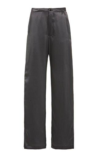 Benjamin Silk Straight-Leg Pants