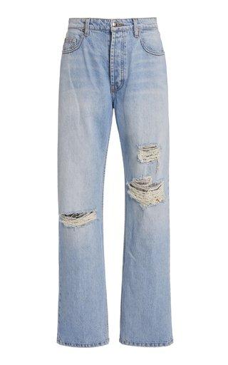 Sammy Distressed Rigid High-Rise Straight-Leg Jeans