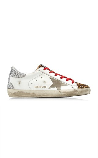 Superstar Suede and Leopard Leather Sneakers