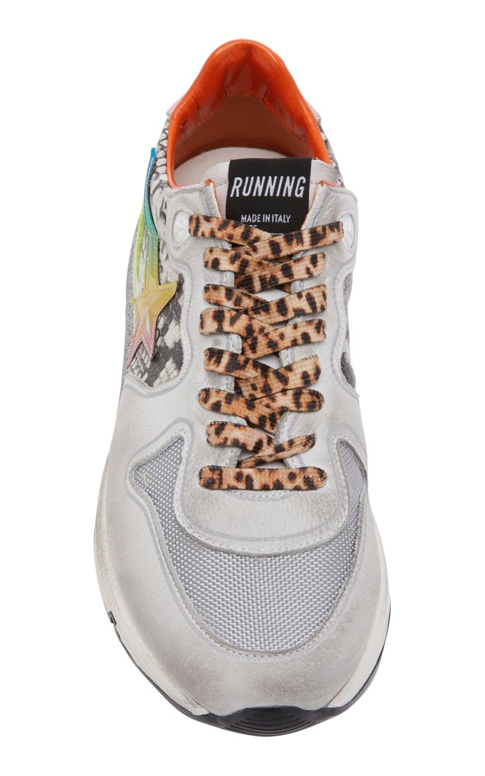Running Sole 3D Star Leather Sneakers