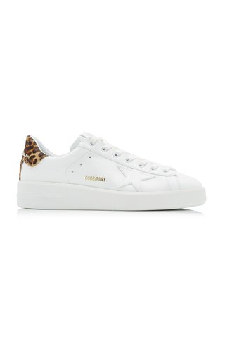Pure Star Leopard Calf Hair And Leather Sneakers