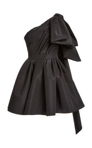One-Shoulder Silk Mini Dress