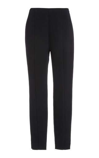 Stretch-Wool Slim-Leg Pants