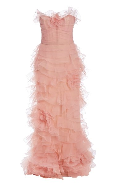 Ruffled Organza Gown