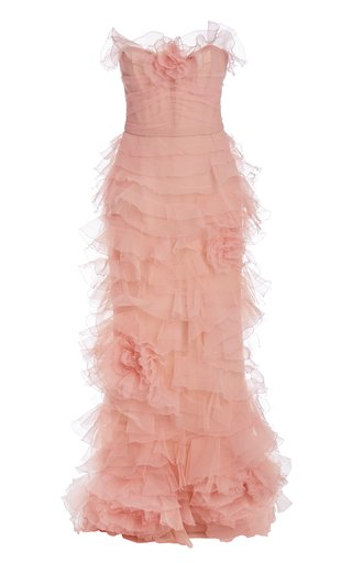 Ruffled Organza Gown