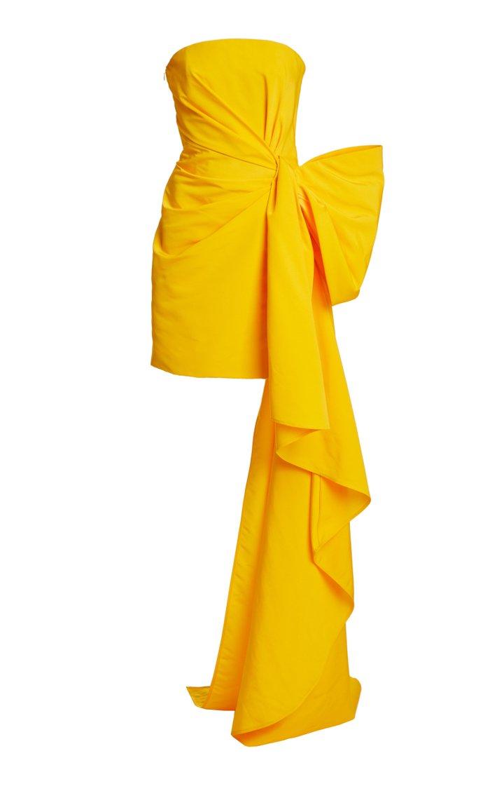 Cascading Crepe Mini Dress