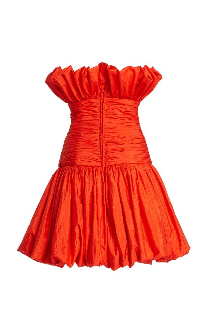 Ruched Taffetta Dress