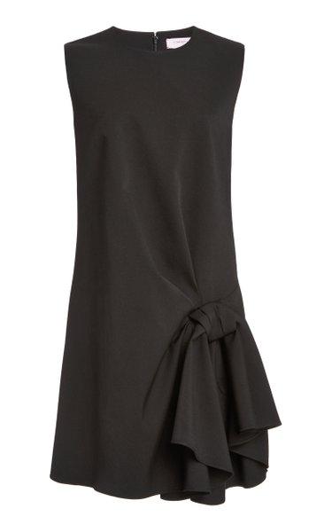 Knot-Detailed Wool-Blend Dress