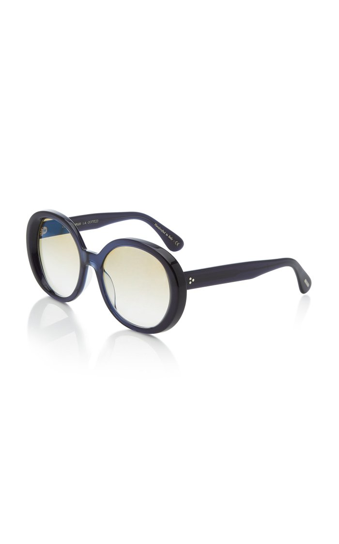 Leidy Acetate Round-Frame Sunglasses