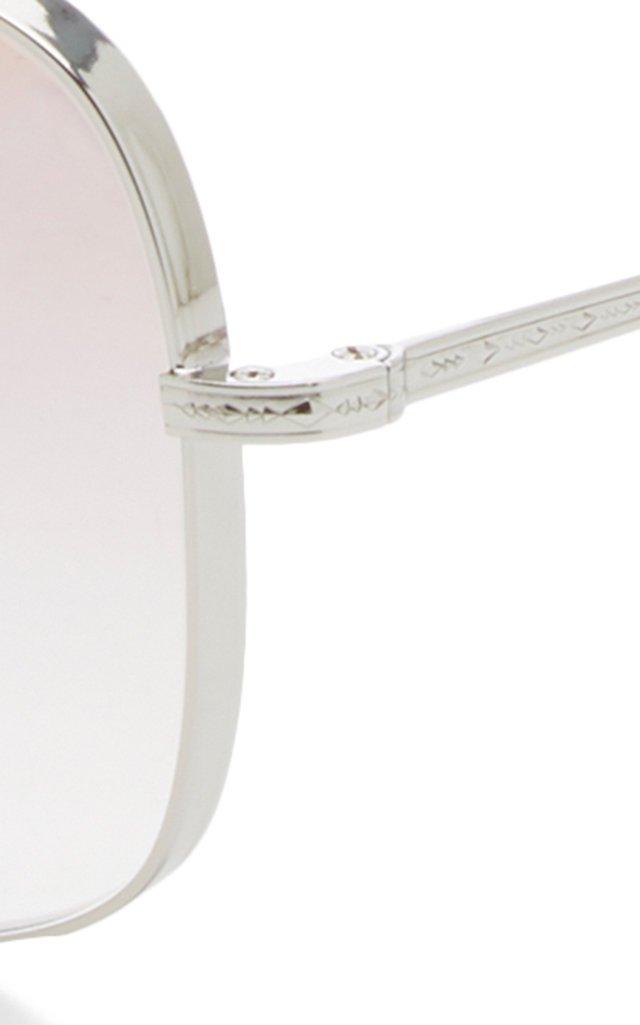 Taron Metal Square-Frame Sunglasses