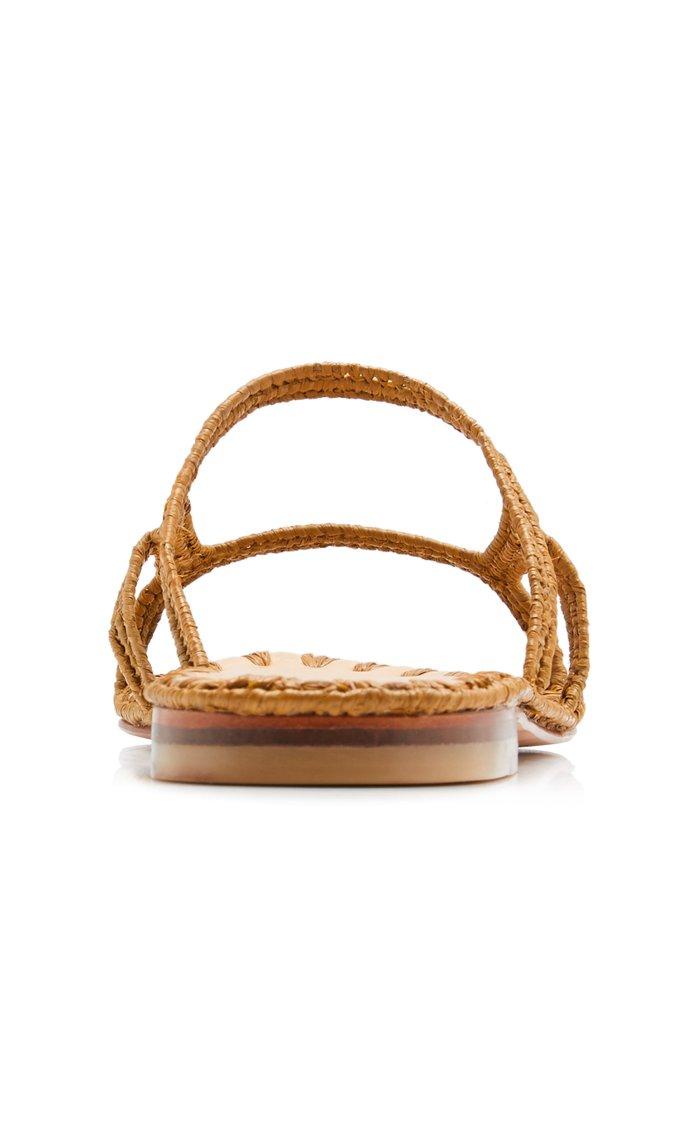Zineb Raffia Slide-On Sandals