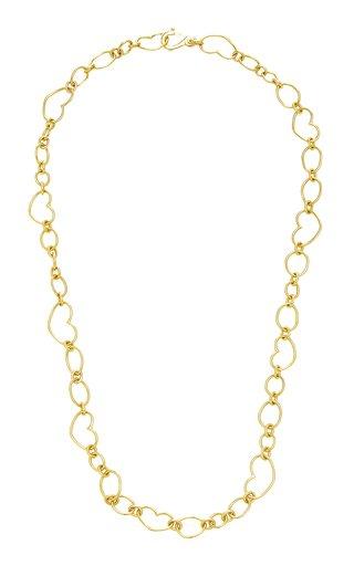 18K Yellow Gold Heart Chain